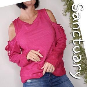 SANCTUARY cold shoulder sweatshirt